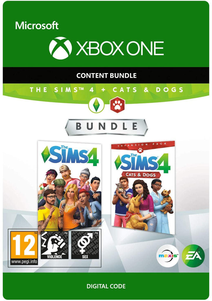THE Sims 4 PLUS Cats and Dogs (Xbox One Download Code)