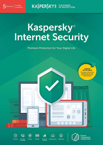 Kaspersky Internet Security 2020 | 3 Devices | 1 Year | Antivirus and Secure VPN Included (PC/Mac Download Code)