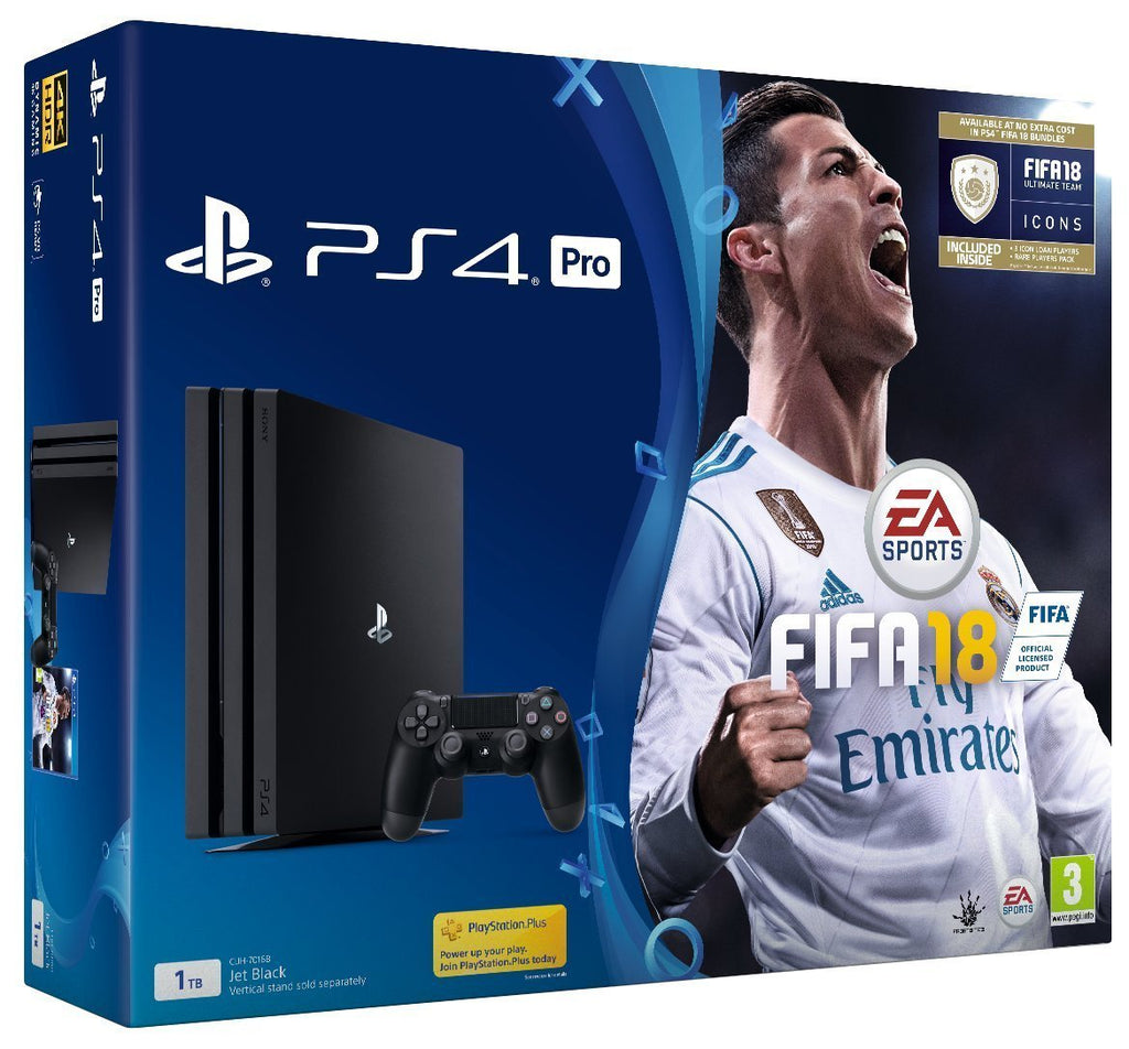 PlayStation 4 PRO 1TB with FIFA 18 - Offer Games
