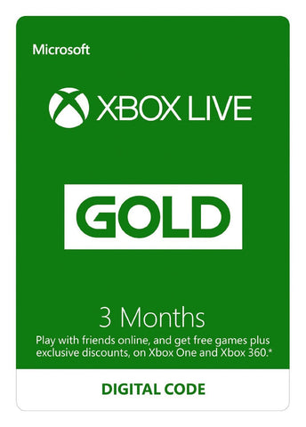 Xbox LIVE 3 Month Gold Membership (Xbox One) - GameIN