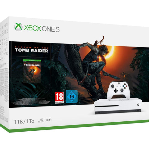 Xbox One S + Shadow of Tomb Raider (1TB) - Offer Games