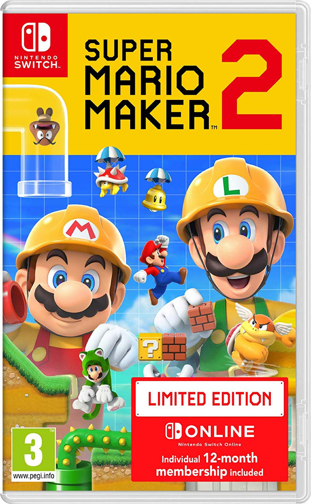 Super Mario Maker 2 Limited Edition - 12 Months Nintendo Online (Nintendo Switch) - Offer Games