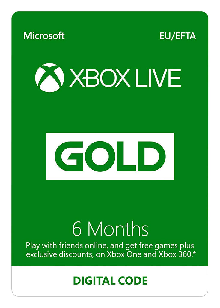 Xbox LIVE 6 Month Gold Membership (Xbox Live Download) - Offer Games