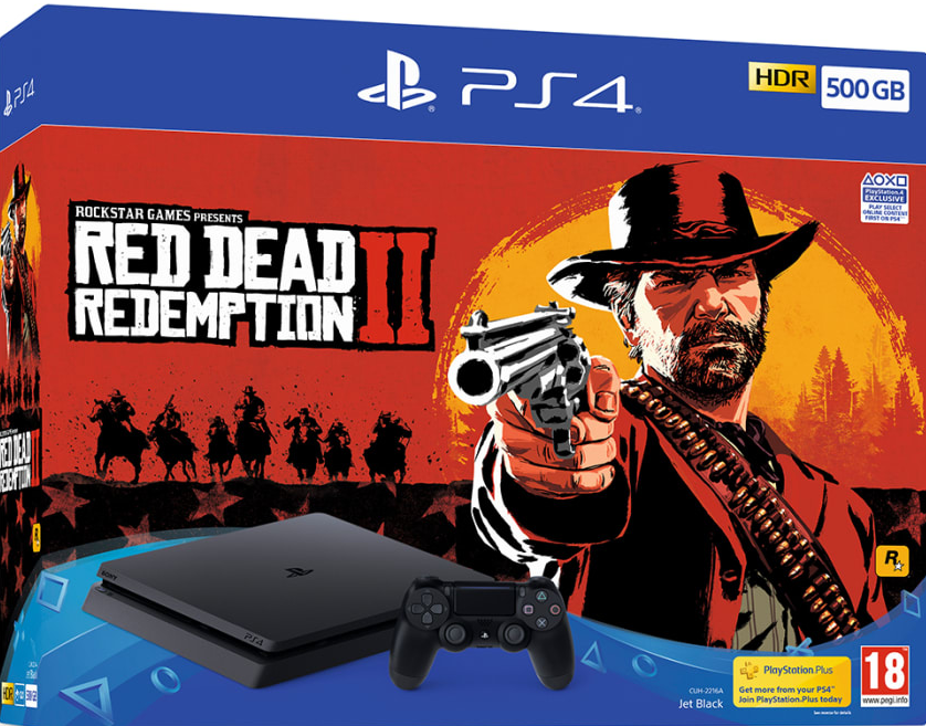 PlayStation 4 + Red Dead Redemption 2 500GB - Offer Games
