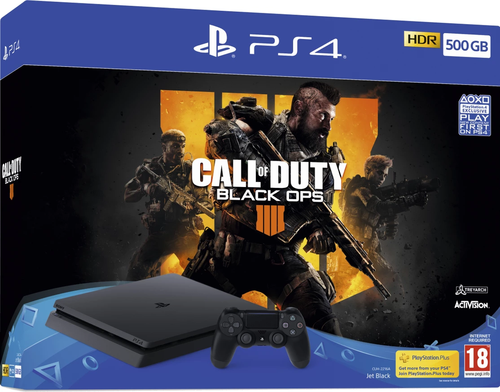 PlayStation 4 500GB + Call of Duty Black Ops 4 - Offer Games