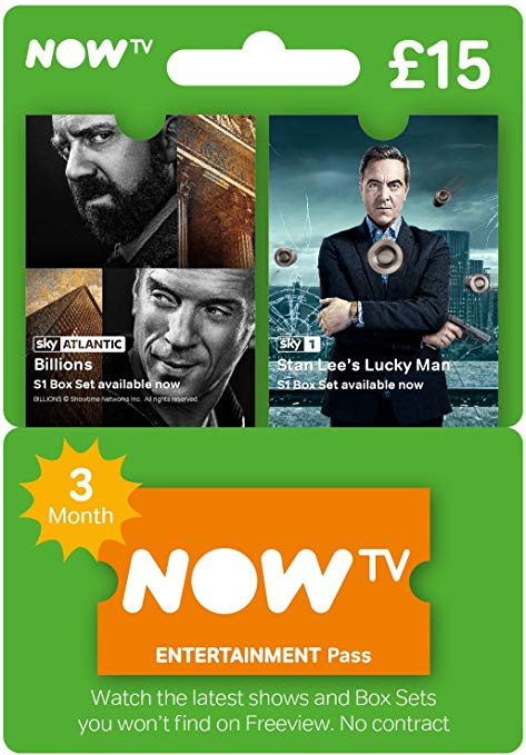 NOW TV 3 Month Entertainment Pass (Download Code)