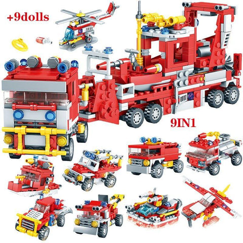 837pcs City Firefighter Figure Building Blocks Toy - Offer Games