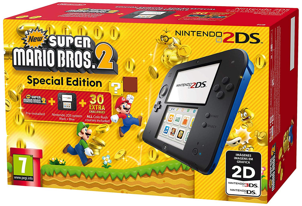 Nintendo Black/Blue with New Super Mario Bros 2 - Offer Games