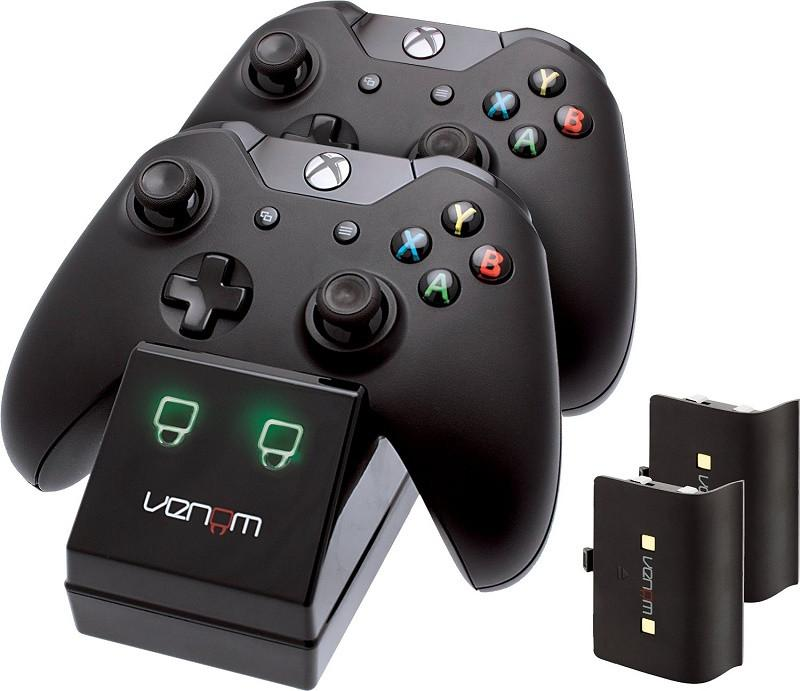 Venom Xbox One Twin Docking Station with 2 x Rechargeable Battery Packs: Black - Offer Games