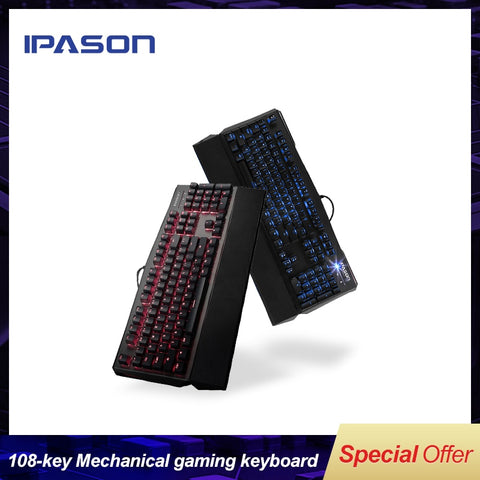 IPASON Mini Scissors Gaming Mechanical Gaming Keyboard - Offer Games