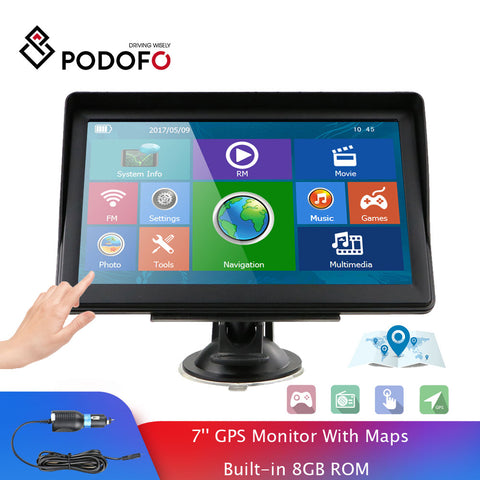 Podofo 7 Inch HD Touchscreen Sat Nav - Offer Games