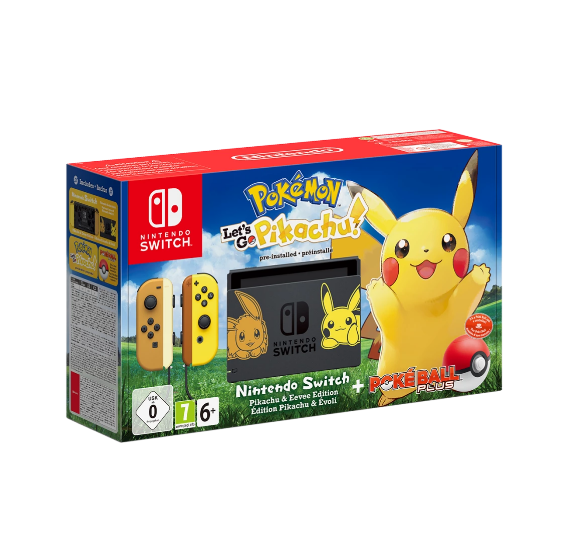 Nintendo Switch Limited Pikachu Edition Console (Pokemon Let's Go)