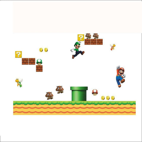 Vinyl Removable Wall Sticker (Super Mario) - Offer Games