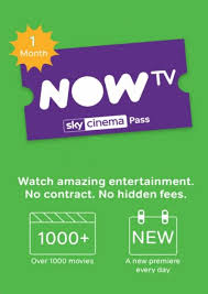 NOW TV - Cinema 1 Month Pass (Download Code)