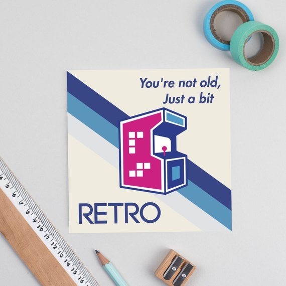 Gamer Retro Birthday Card - Offer Games