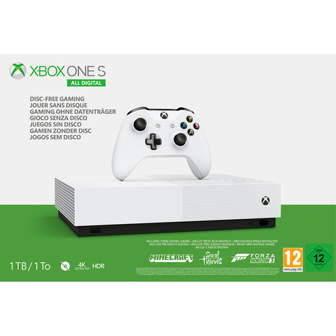 Xbox One S - All Digital (1TB) - Offer Games