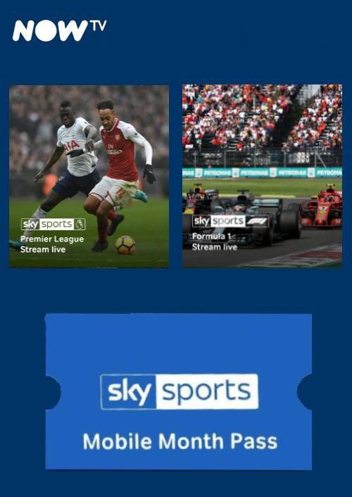 NOW TV - Sky Sports Mobile Month Pass (Download Code) - Offer Games