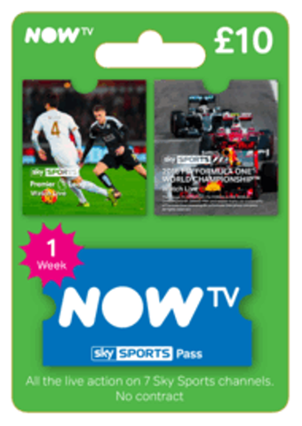 NOW TV - Sky Sports 1 Week Pass (Download Code) - Offer Games