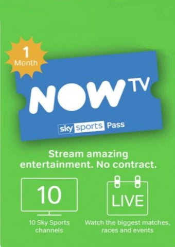 NOW TV - 1 Month Sports Pass (Download Code) - Offer Games