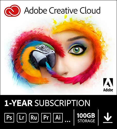 Adobe Creative Cloud |Entire collection of Adobe creative tools plus 100GB storage | 12-month Subscription with auto-renewal, billed monthly, PC/Mac