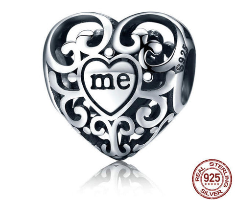 YOU & ME MEANS ONE HEART CHARM