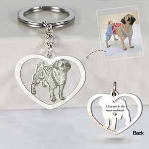 Personalized Heart Photo Keychain