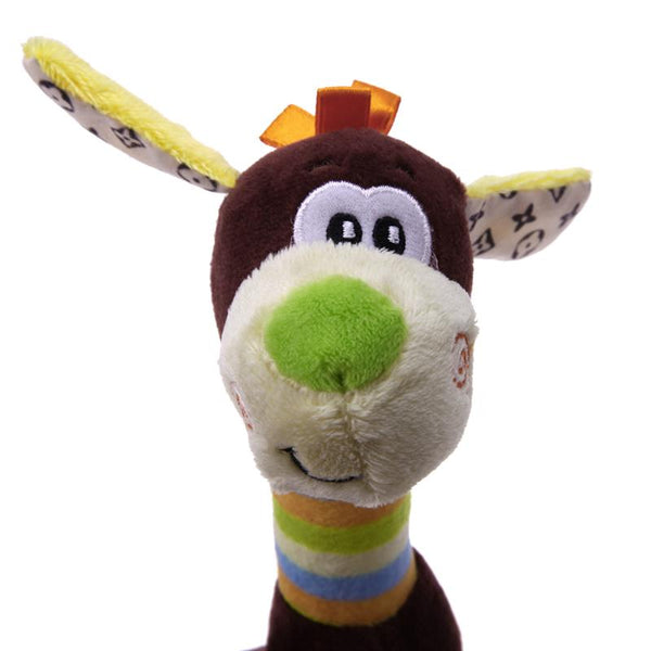 Classic Plush Squeaky Toy In Brown