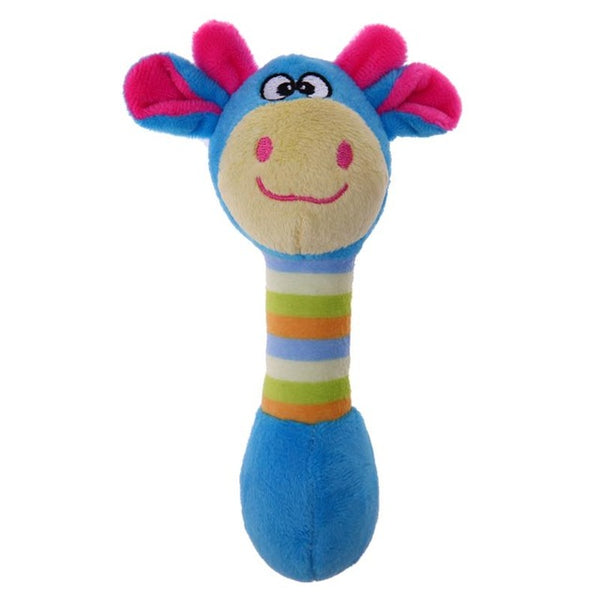 Classic Plush Squeaky Toy In Blue