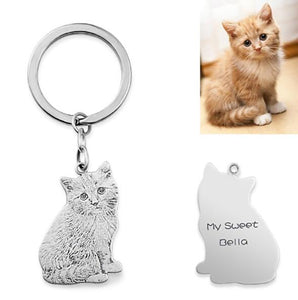 Personalized Photo Engraved Keychain