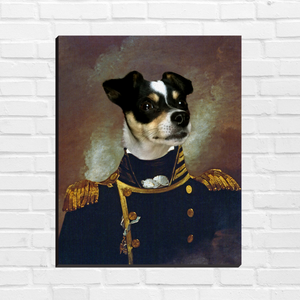 The Commander - Custom Pet Canvas