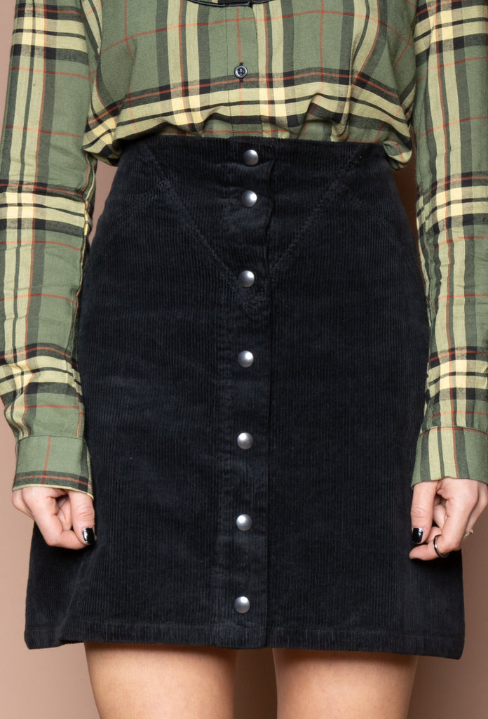 Corduroy Skirt Black