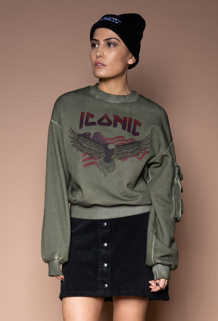 Eagle Sweatshirt Army