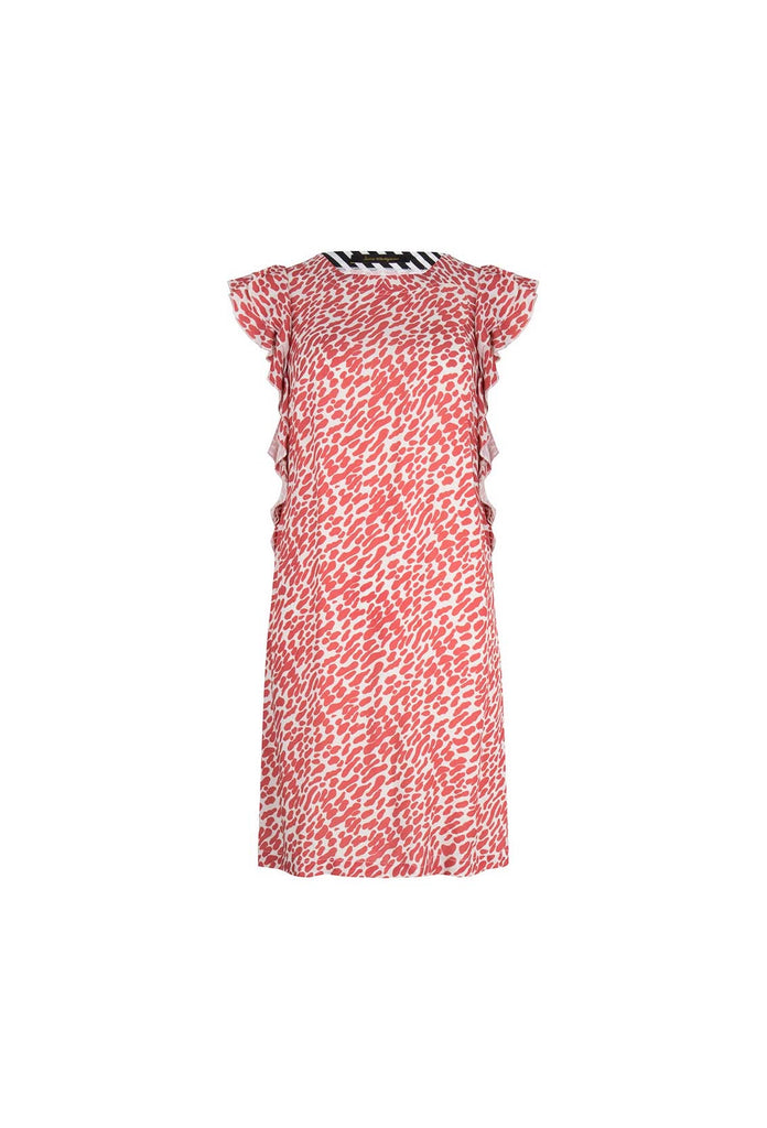 Valerie Dress - The Red Print Dress With Ruffles