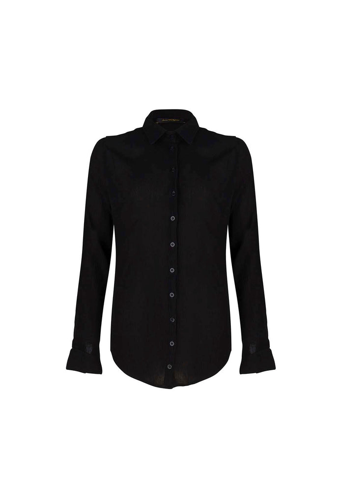 Love Is Blind - Black Viscose Blouse