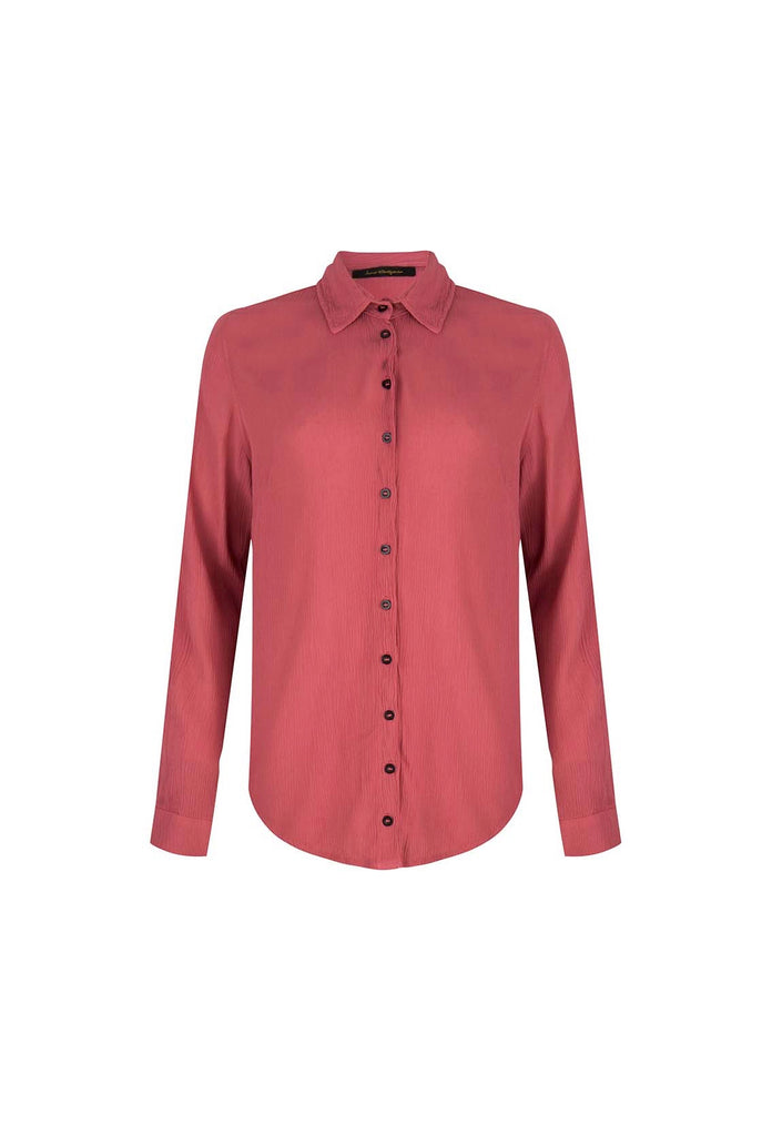 Love Is A Losing Game - Red Viscose Blouse