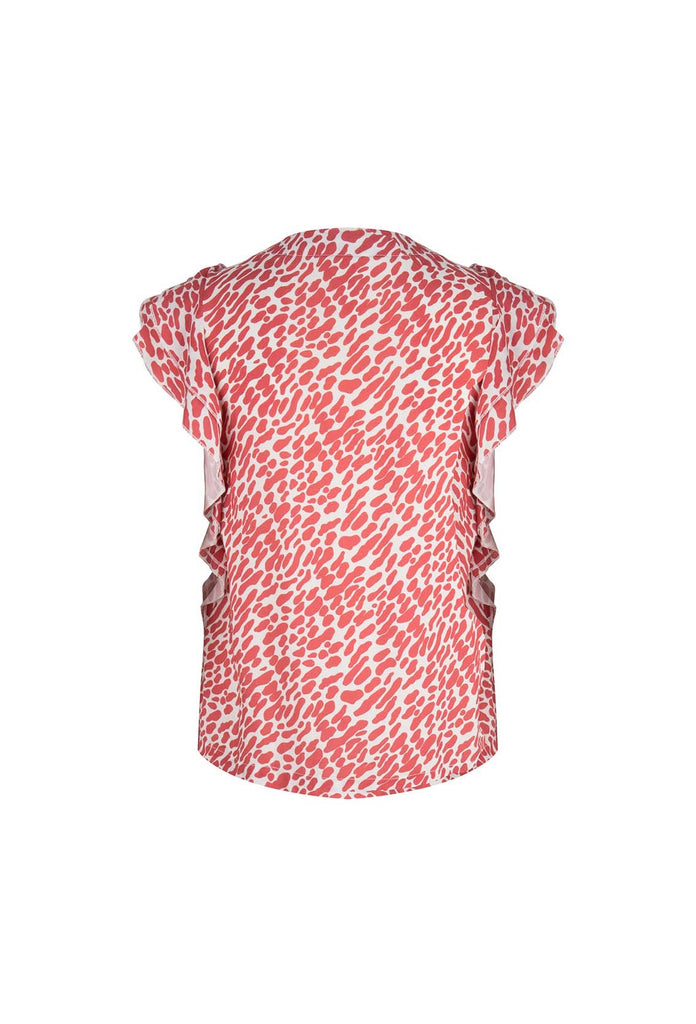 Power To Love Tee - The Red Print Ruffle Top