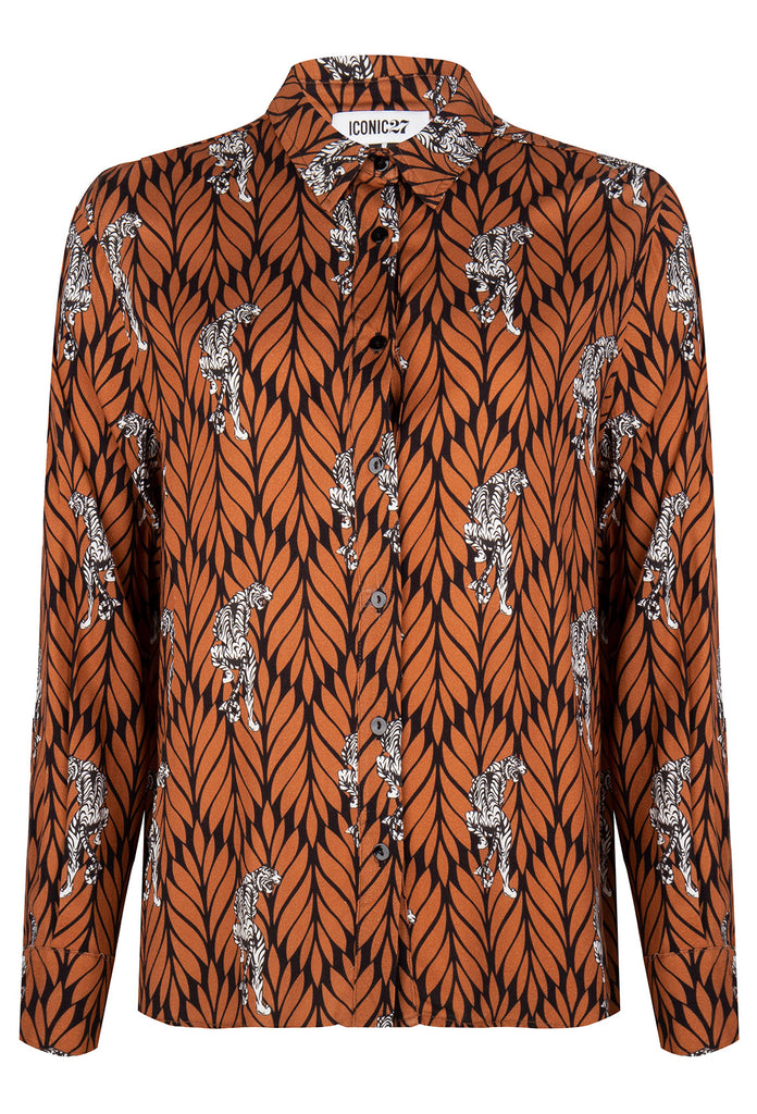 Brown Leaves Blouse