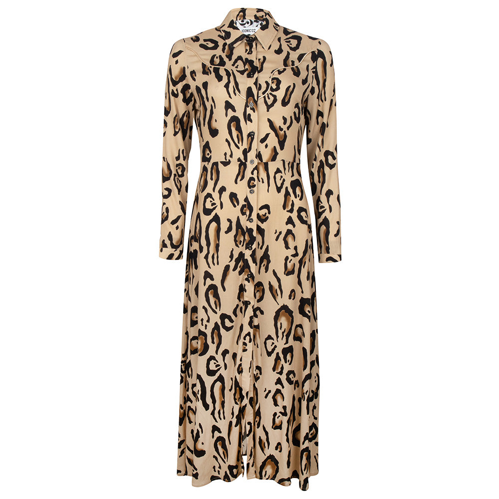 Tiger print long dress