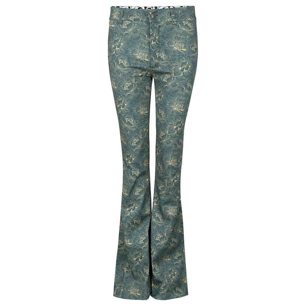 Iconic flair pants flowerprint