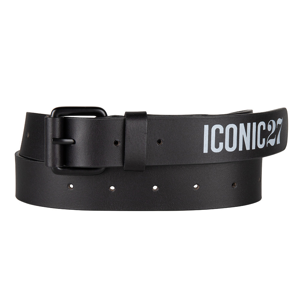 iconic leather belt black