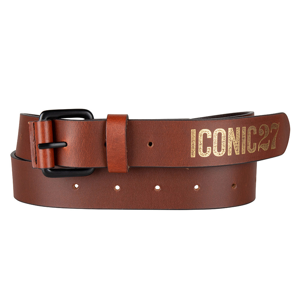 iconic leather belt brown