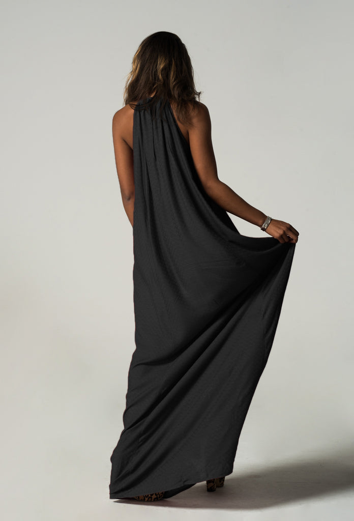 Neck Long Dress