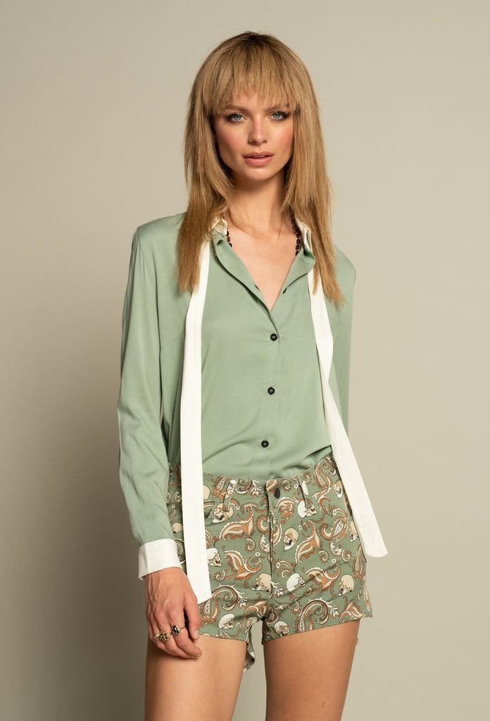 Paint It Black Blouse Mint