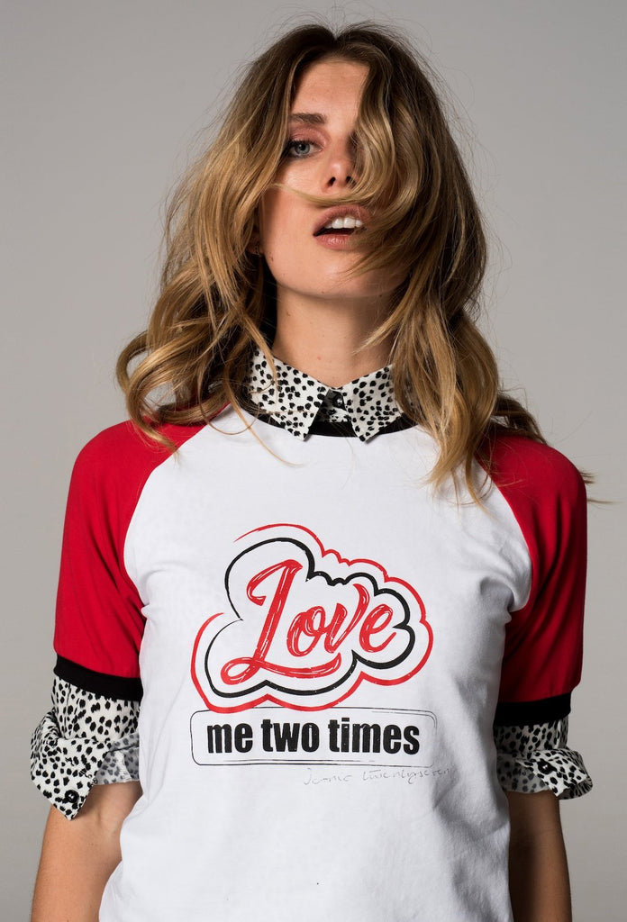 The White Love Me Two Times T-Shirt