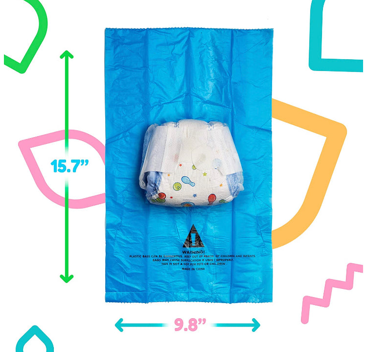 Diaper Bag Dispenser with 7 rolls Disposable Waste Bags