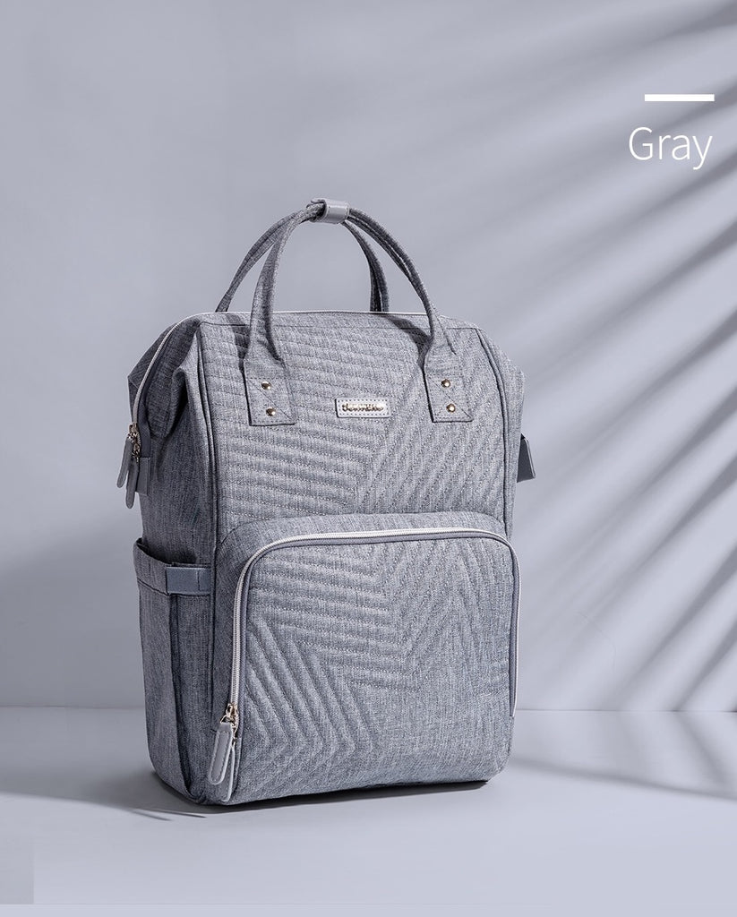 Grey Quilted Sunveno Diaperbag