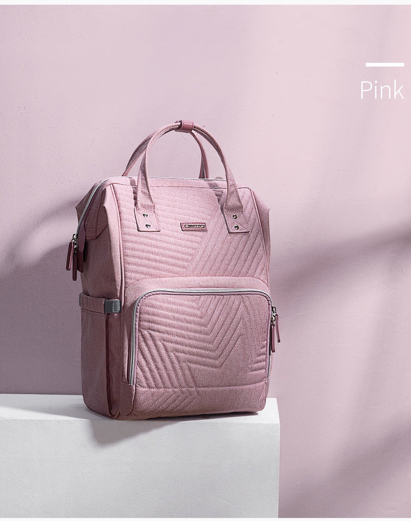 Pink Quilted Sunveno Diaperbag