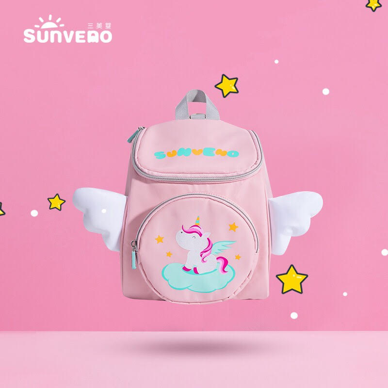 Sunveno Unicorn Kids Backpack With anti lost strap