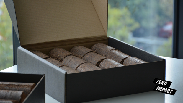 Briki's - 250 kg Coffee Briquettes for LADRO packaged in repurposed coffee sacks. Free Delivery