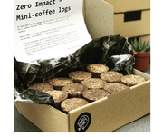 12x Mini coffee-logs for camping, firepits, open fires  - Innovators pack!